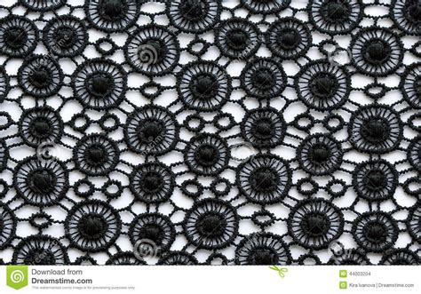 black flowers lace material texture macro shot stock photo