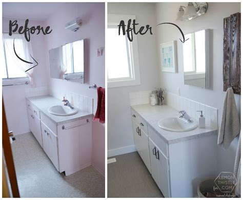 easy diy bathroom remodel remodelaholic diy bathroom remodel on a budget and