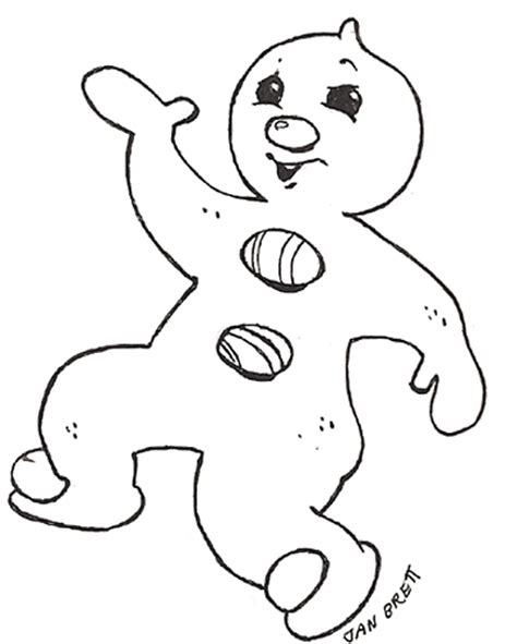 jan brett coloring pages gingerbread baby gingerbread boy pizzazz reversed