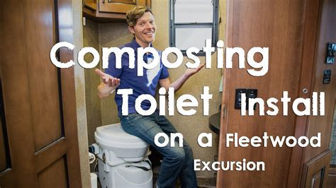composting toilet travel trailer composting toilet install on a fleetwood excursion rv rv