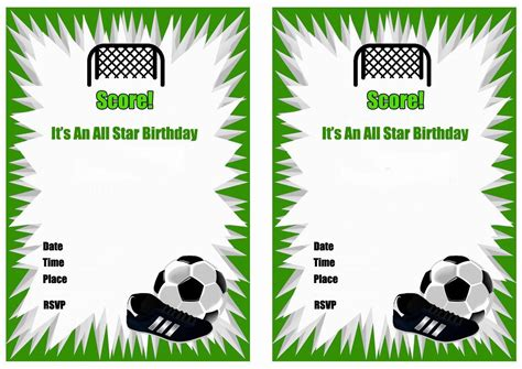 Sports Birthday Cards Free Printable