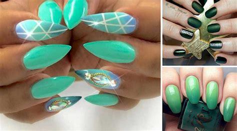 imagenes de uñas decoradas verde jade 20 dise 241 os de u 241 as color verde que podr 225 n verdes de la