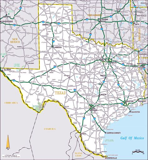 large texas map large roads and highways map of the state of texas vidiani maps of all countries in one