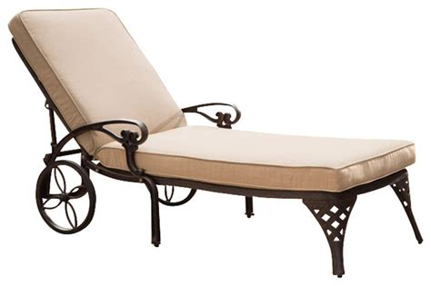 outdoor chaise lounge chair cushions home styles biscayne outdoor chaise lounge chair in bronze