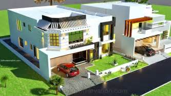 House Layout Drawing 3d front elevation com 1 kanal house drawing floor plans layout house
