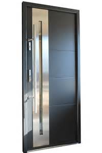 Steel Entry Doors Glass Quot New Yorker Quot Stainless Steel Modern Entry Door With Glass