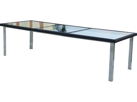 Rectangle Glass Dining Table Suncoast Avenir Wicker 110 X 40 Rectangular Glass Dining Table 124 T40110