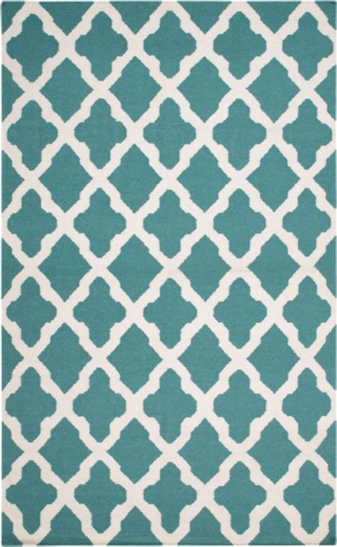 teal and white rug rug in teal and white by artistic weavers