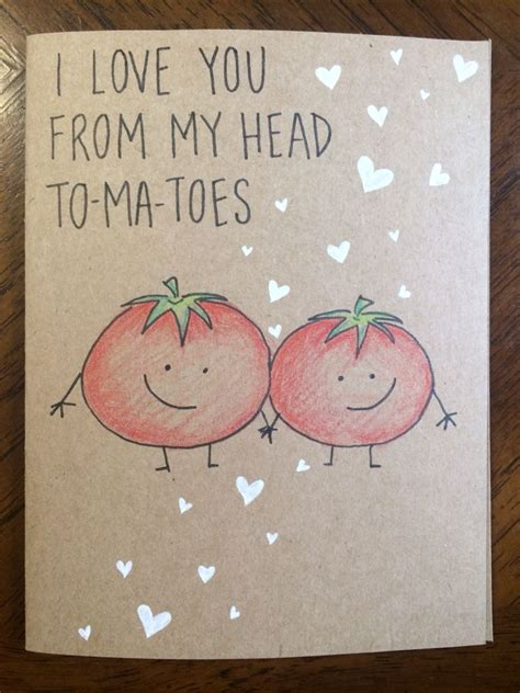 I Love Gift Cards - i love you from my head tomatoes card gardening humor