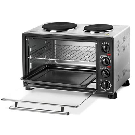 bench top oven benchtop convection oven with twin hot plates 34l buy