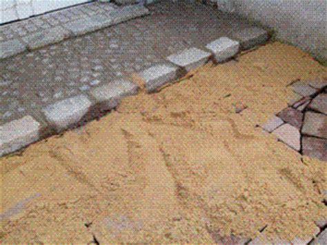 pflastersteine verfugen sand pflastersteine verfugen