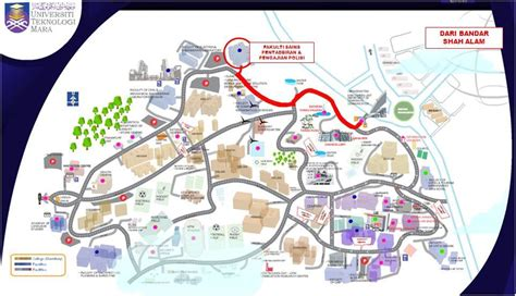layout uitm shah alam location map