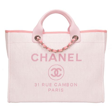 The Pink Bag chanel pink canvas large deauville shopping tote world s