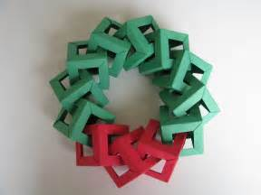origami christmas wreath using open frame ii units from