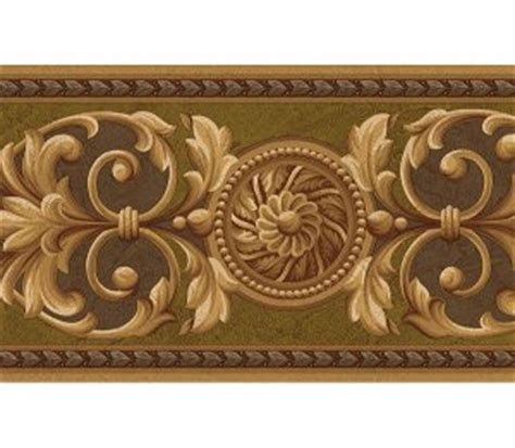 gold victorian wallpaper victorian gold olive medallion wallpaper wall border