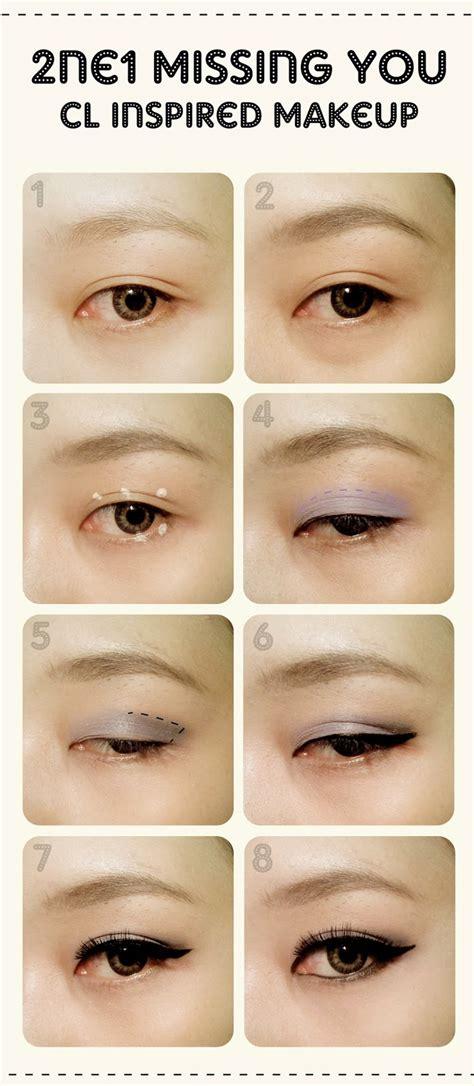 tutorial eyeliner cl 2ne1 thesorbetjourney 2ne1 그리워해요 missing you makeup tutorial