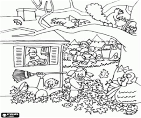 coloring pages of fall scenes fall autumn coloring pages printable games