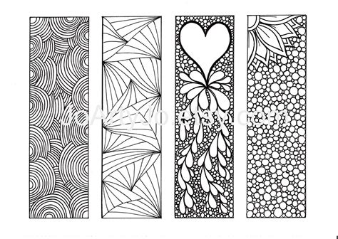 coloring book for markers zentangle inspired bookmarks diy printable coloring