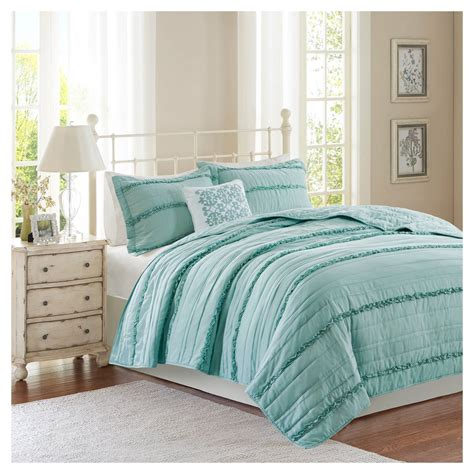 ruffle coverlet alexis ruffle quilted coverlet set 4pc