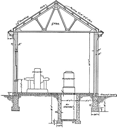 Small Two Story House Floor Plans Resident Sub Station Plan Section Clipart Etc