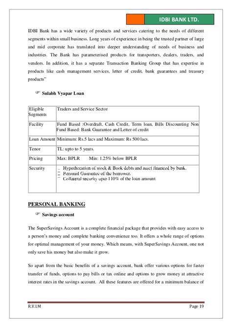 Idbi Bank Letter Of Credit idbi