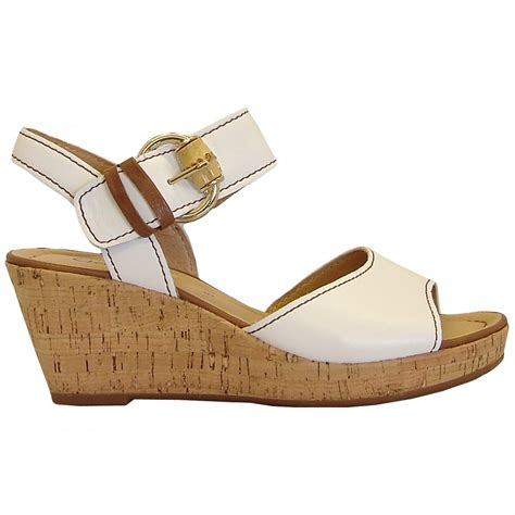 Wedges Rm 69 Wedges Belang gabor shoes dover cork wedge sandal in white mozimo