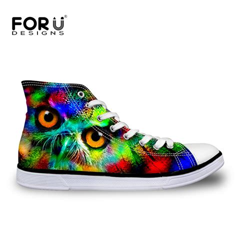 Shoes Canvas Animal new high top shoes 3d printing animal canvas