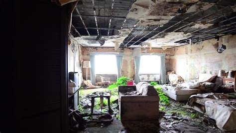 room shambles dilapidated guest room in shambles in an abandoned hotel stock footage 8160469