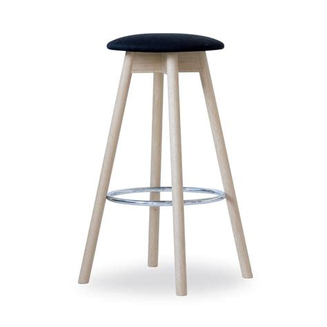 High Wooden Stool by Practical Stool Demountable Made In Beech Wood With