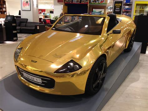 Gold Plated Cars For Sale by Your Child Could Be Cooler Than Flo Rida With This Gold