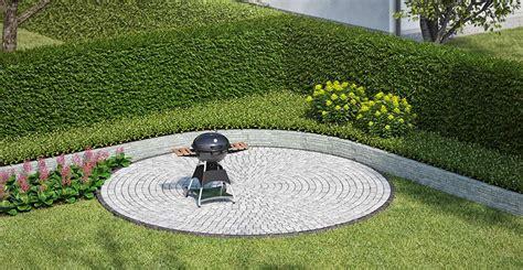 Feuerstelle Aus Pflastersteinen by Garten Sitzecke Grillplatz Gestalten Obi Gartenplaner