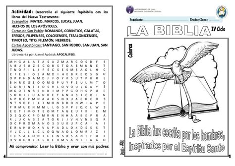 preguntas biblicas del libro delos hechos ficha la biblia 3 176 y 4 176 grado de primaria