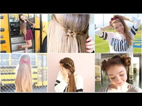 easy hairstyles for the day of high school simple hairstyles for school yahoo answers