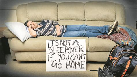surf the couch rough it on the couch for taste of homelessness the