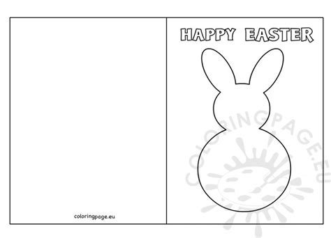 Rabbit Easter Card Templates by Easter Bunny Card Template Coloring Page
