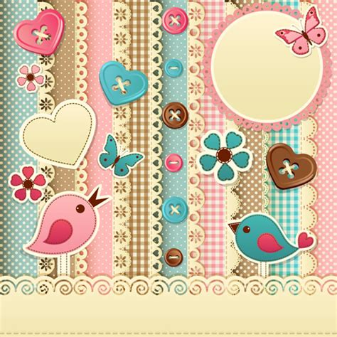 Free Background Papers For Card - paper baby backgrounds vector 04 vector background