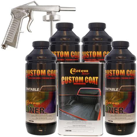 bed liner spray gun bed liner custom coat tintable 4 l urethane spray on truck kit w free spray gun ebay