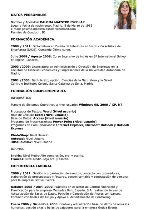 Curriculum Vitae by Suminfor Formaci 211 N C2 Realizaci 243 N De Curriculum Vitae O
