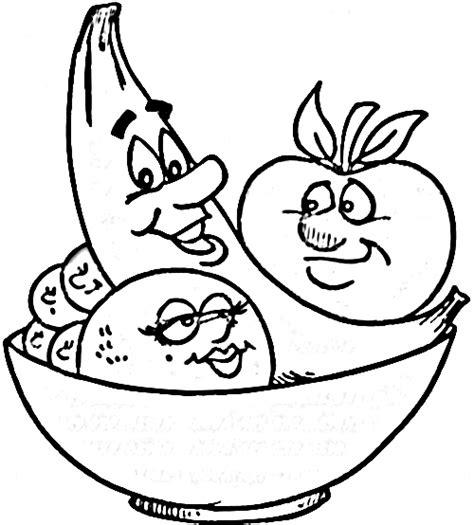 fruit bowl coloring page fruit outline clip art 56