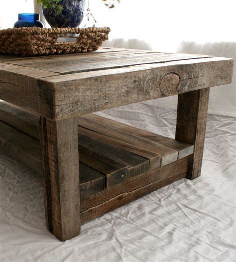 Rustic Barnwood Coffee Table Reclaimed Barnwood Coffee Table Features Reclaimed Wood Everettco Scoutmob Product Detail
