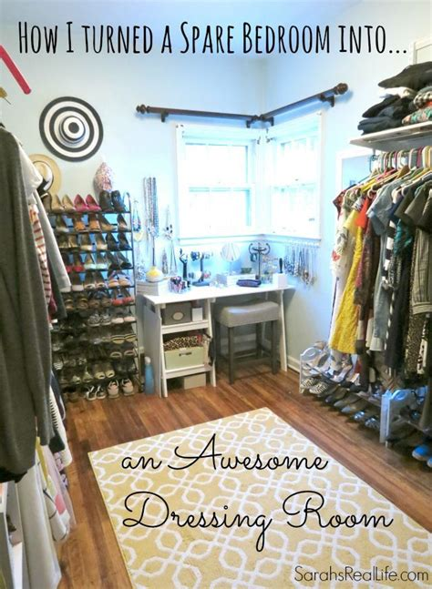 how to turn a bedroom into a closet real dressing room how to turn spare bedroom into walk in