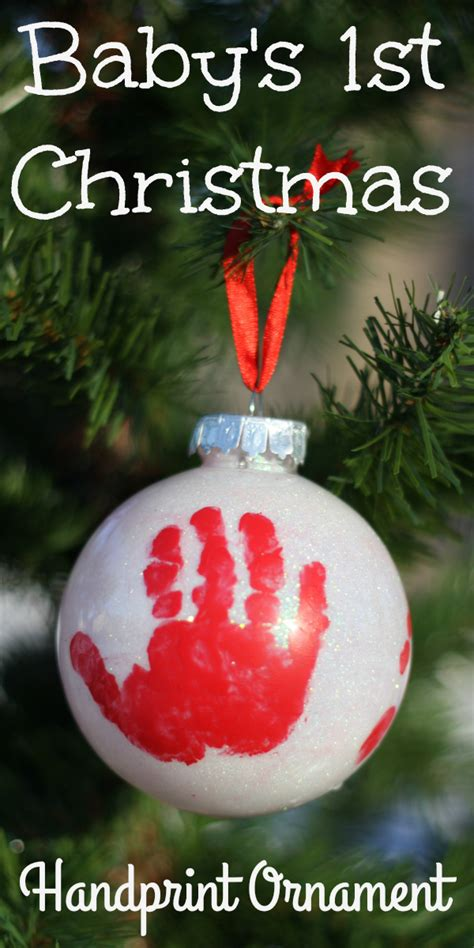 handprint ornament for baby s first christmas i can