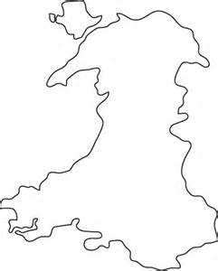 Simple Uk Outline by Wales Outline Map