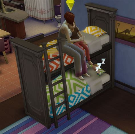 bunk beds for 4 mod the sims functional bunk bed fixed april 2015
