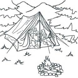 children camping colouring pages