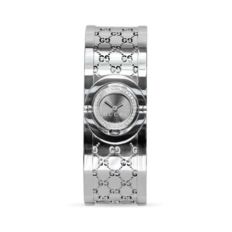 Gucci Watches The Twirl Gucci With Rotating by Preowned Gucci Twirl Bangle Set With Diamonds