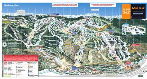 usa ski resort map vail piste maps