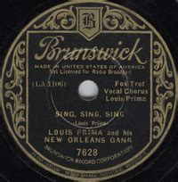 sing sing sing with a swing louis prima sing sing sing with a swing