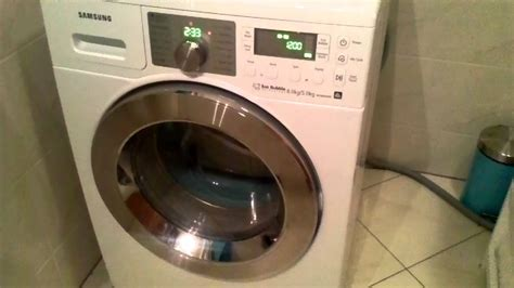 samsung eco bubble wdwe washer dryer spin youtube