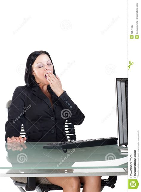 Office Worker At Desk Office Worker Yawning At Desk Royalty Free Stock Photography Image 15676967